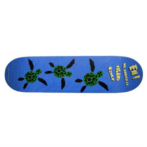 Skate do estilo da ilha