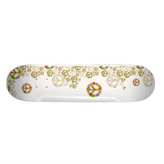 Skate do símbolo de paz da flor