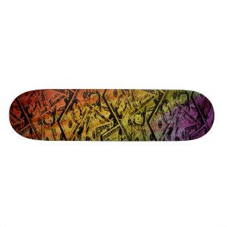 Skate feito sob encomenda do dinheiro do arco-íris