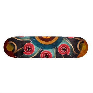 Skate floral da arte do vetor do abstrato da cor