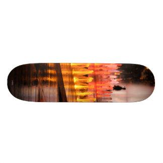 Skate fotografia, silhueta homem