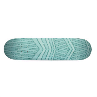 Skate geométrico da listra do brilho do Aqua de