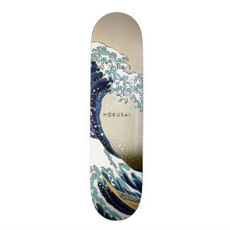 Skate Grande onda restaurada fora do texto do costume de