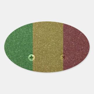 Skate Griptape de Rasta Adesivos Em Formato Oval