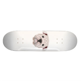 Skate Retrato ilustrado do filhote de cachorro inglês do