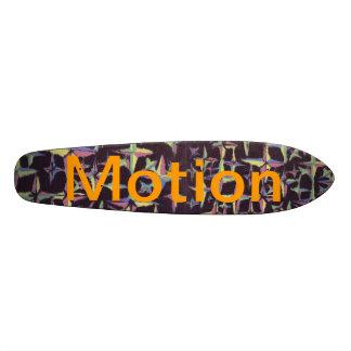 Skate retro das estrelas do movimento