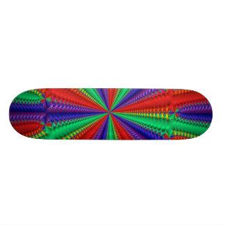 Skate Roxo-Azul-Verde-Vermelho