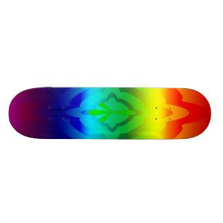 Skate símbolo de paz do arco-íris