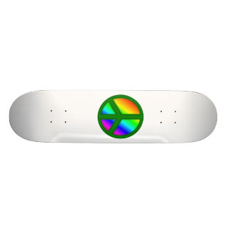 Skate verde do símbolo de paz