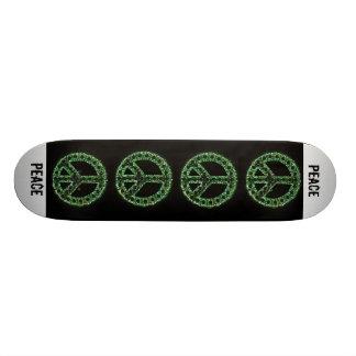 skate verde do sinal de paz
