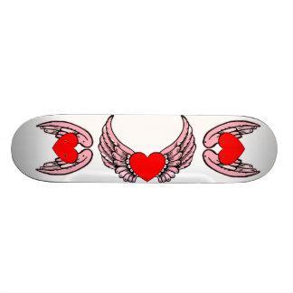 Skate voado rosa 2 do coração