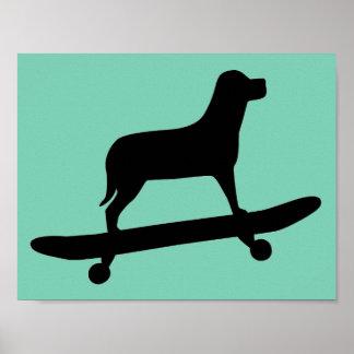 Skateboarding do cão - posters engraçados do cão