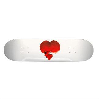 Skatedeck cardíaco shape de skate 19,7cm