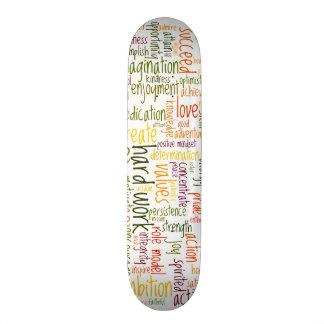 Skatedecks inspiradores das palavras #2 shape de skate 20cm