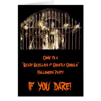 Skellies assustador & Ghouls chocantes Cartão Comemorativo