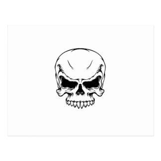 Skull_vector_10 Cartão Postal