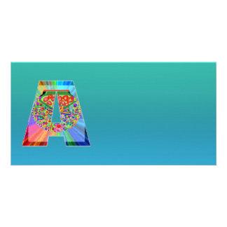 SkyBlue de brilho n NumberONE AAA Cartão Com Foto