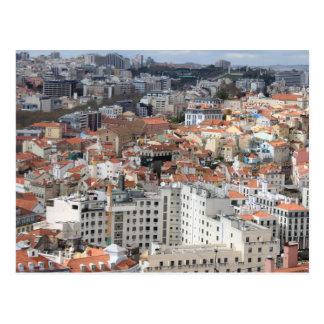 Skyline da cidade de Lisboa Cartão Postal