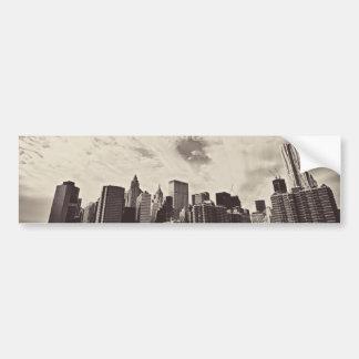 Skyline da Nova Iorque do estilo do vintage Adesivo Para Carro