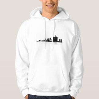 Skyline de Detroit Moleton Com Capuz
