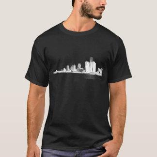 Skyline de Detroit Tshirts