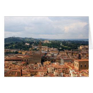 Skyline de Florença Cartão Comemorativo