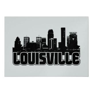 Skyline de Louisville Convite 12.7 X 17.78cm