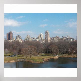 Skyline de Manhattan do Central Park Posters