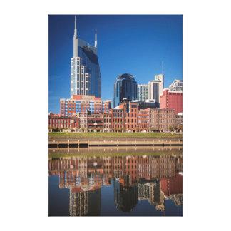 Skyline de Nashville, Tennessee Impressão Em Tela Canvas