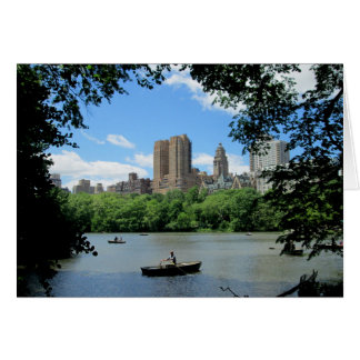 Skyline de NYC fotografada do Central Park Cartão Comemorativo