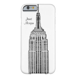 Skyline de NYC - olhar gravado Empire State Capa Barely There Para iPhone 6