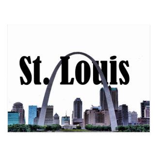 Skyline de St Louis com St Louis no cartão do céu
