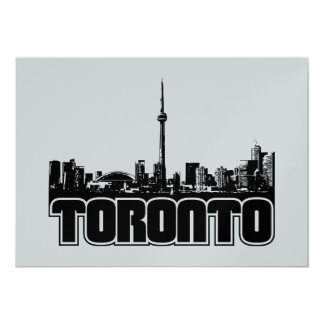 Skyline de Toronto Convite 12.7 X 17.78cm