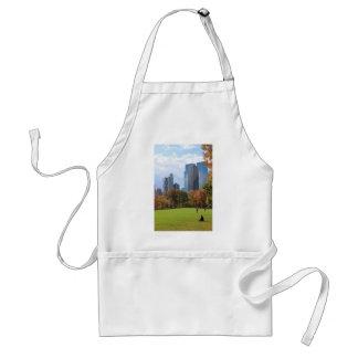 Skyline franco visto panorama de Manhattan da Nova Aventais