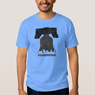 Skyline-Homens retros de Philadelphfia Camiseta