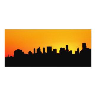 """Skyline no por do sol, Manhattan da Nova Iorque Convite 10.16"""" X 23.49cm"""