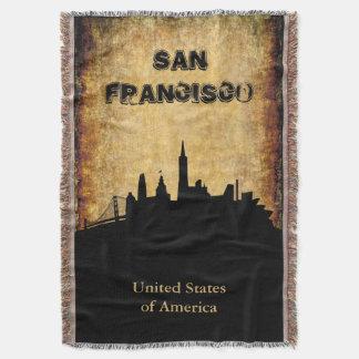Skyline rústica de San Francisco do fundo Lençol
