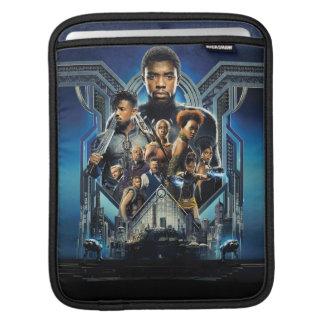 Sleeve Para iPad Caráteres da pantera preta   sobre Wakanda