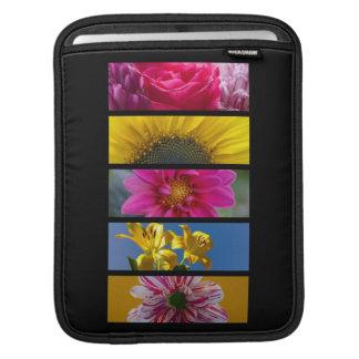 Sleeve Para iPad Flores macro cor-de-rosa & amarelas