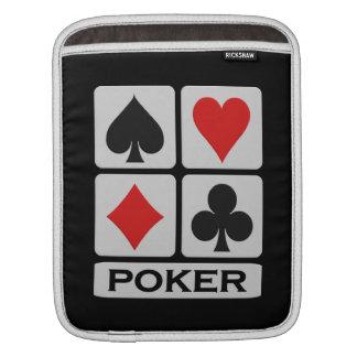 Sleeve Para iPad iPad/bolsa de laptop do jogador de póquer