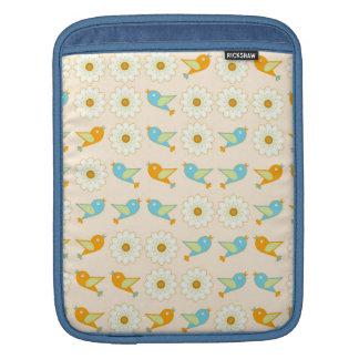 Sleeve Para iPad Pássaros e margaridas