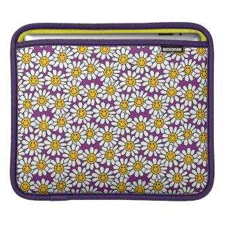 Sleeve Para iPad Teste padrão de flor roxo da margarida do smiley