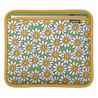 Sleeve Para iPad Teste padrão de flores da margarida do smiley