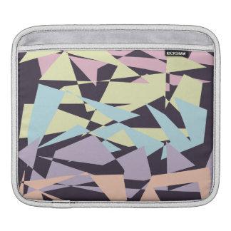 Sleeve Para iPad triângulos geométricos do bloco elegante da cor