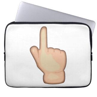 Sleeve Para Laptop Acima de apontar o índice dos revés - Emoji