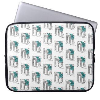 Sleeve Para Laptop Arco de Hanukkah do Natal do feriado da ponte de