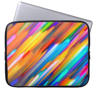 Sleeve Para Laptop Arte digital colorida da bolsa de laptop que