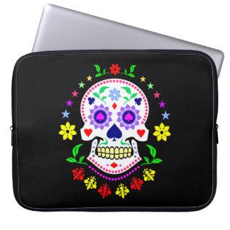 Sleeve Para Laptop Dia mexicano do crânio inoperante do açúcar