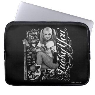 Sleeve Para Laptop Foto da tipografia do pelotão | Harley Quinn do