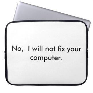 Sleeve Para Laptop Nenhum eu não fixarei seu computador